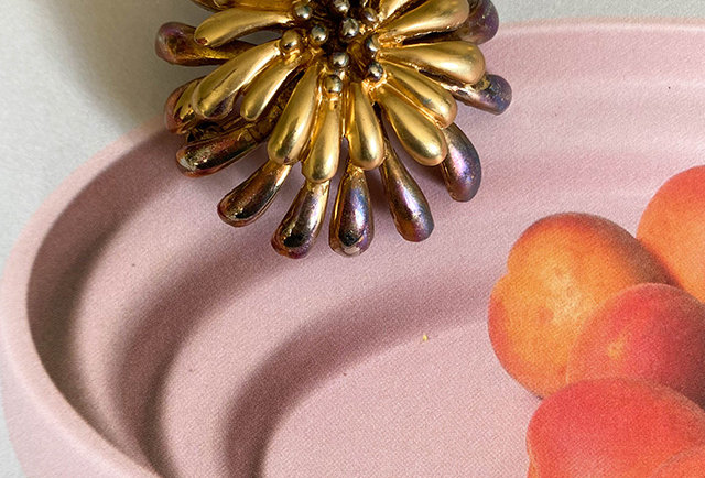 broche fleur vintage dore | Hier Store