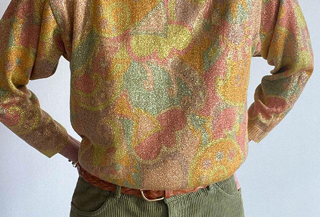 vintage lurex pullover   France
