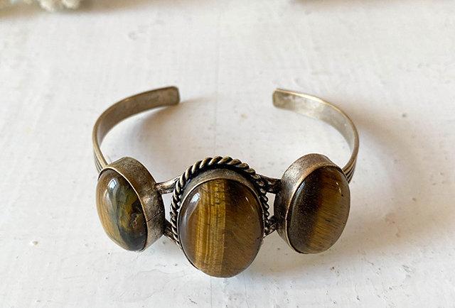 bracelet vintage oeil du tigre | Hier Store