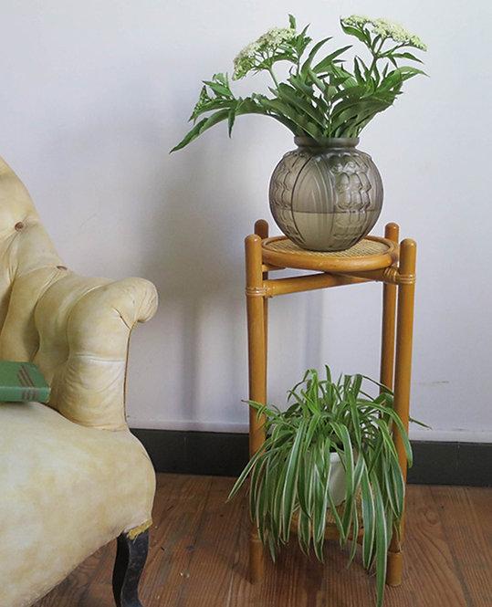 porte plantes bambou vintage