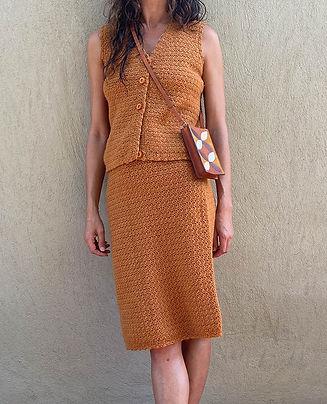 ensemble jupe top crochet fait main vintage hier store.jpg