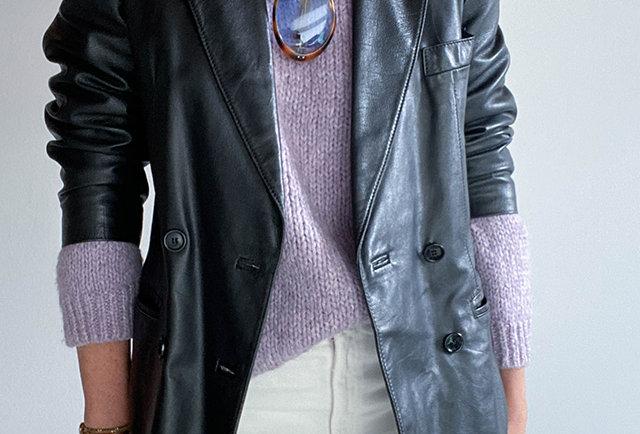 blazer-cuir-noir-vintage