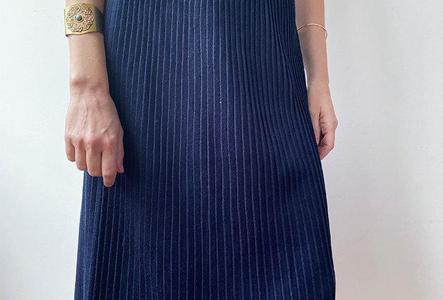 jupe droite plisse soleil laine | vintage France