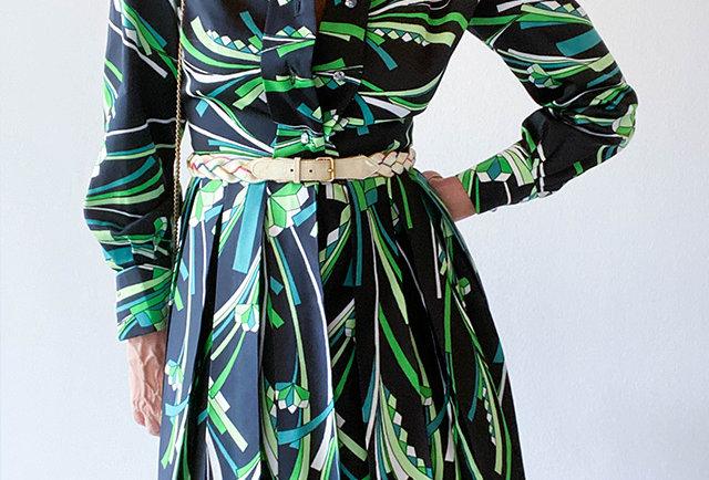 robe fait main vintage 70 | Hier Store