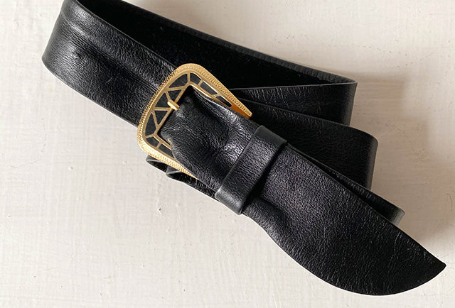 ceinture cuir souple vintage