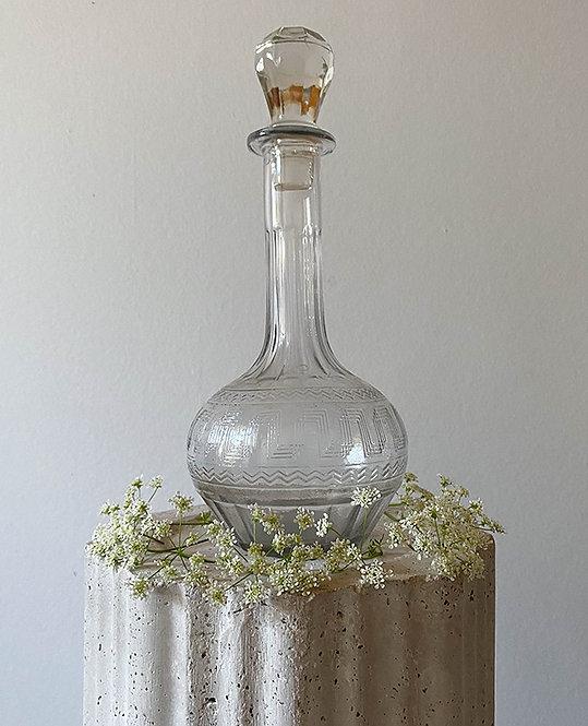 Carafe en verre cisele vintage