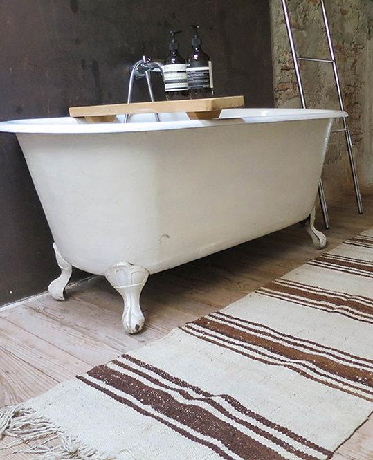 tapis berbere rayures beige marron