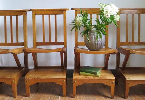 chaise prie dieu Stella  bois vintage