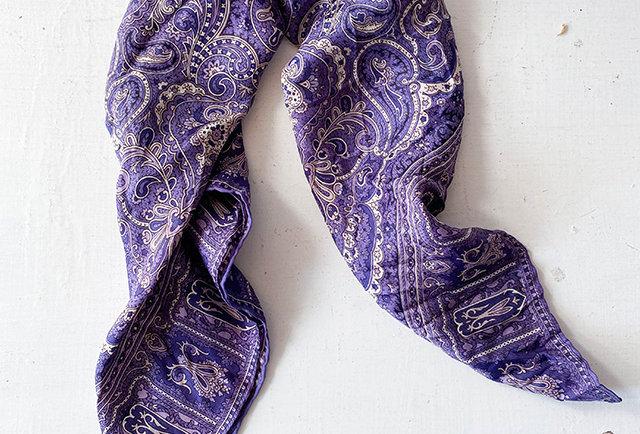 foulard vintage soir violet