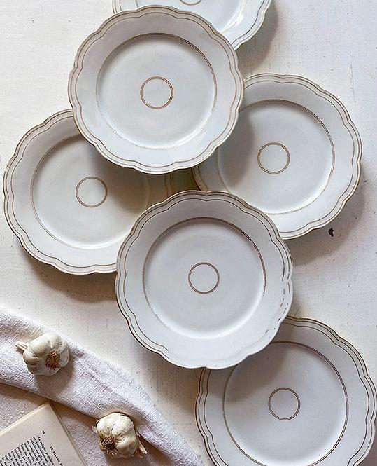 assiettes forme fleurs porcelaine vintage