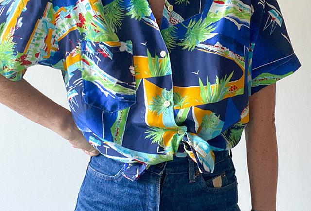 chemise haiwaienne vintage femmes | Hier Store