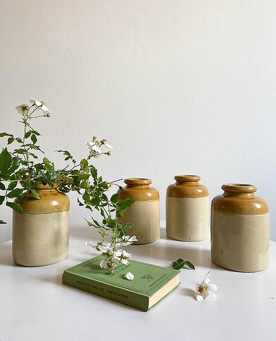 pots anglais bicolore email | vintage lovmint