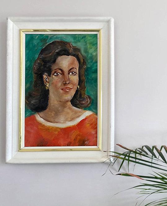 peinture portrait de femme 1950