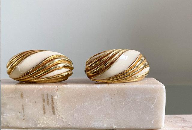 boucles oreilles clip vintage | style Yves Saint Laurent
