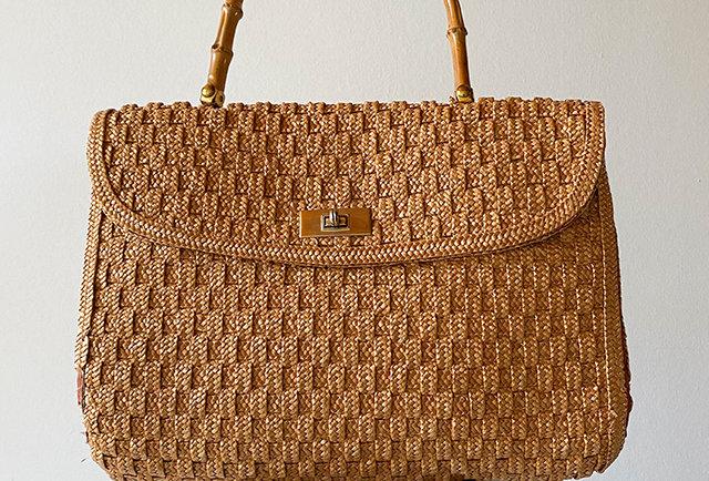 sac osier tresse vintage | Hier Store