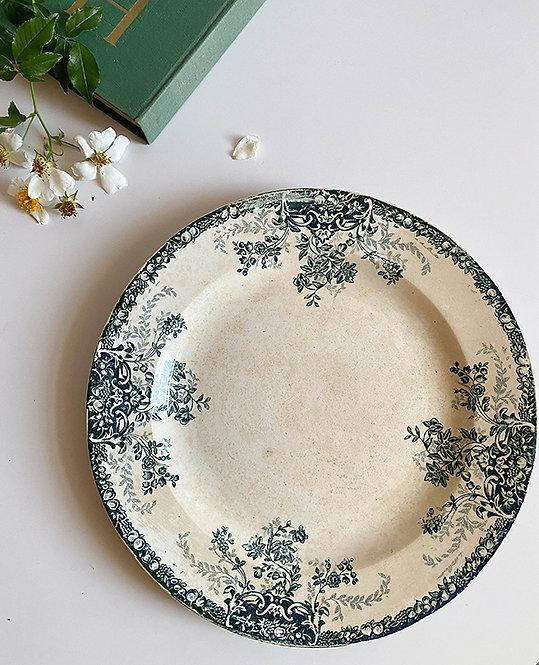 plat gateaux en porcelaine de St Amand vintage
