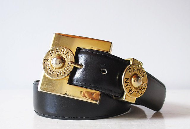 CEINTURE CUIR PARIS NEW YORK