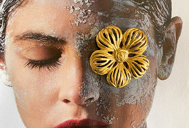 broche fleur vintage style Chanel | Hier Store