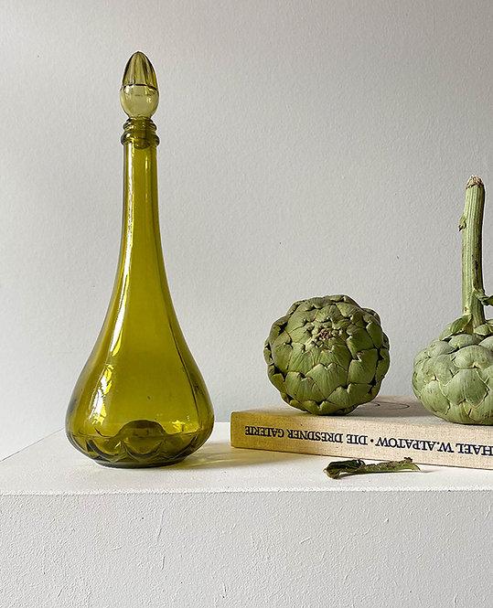 ancienne carafe vin verre cisele | lovmint