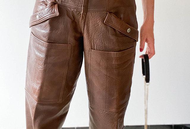 pantalon cuir vintage Taverniti