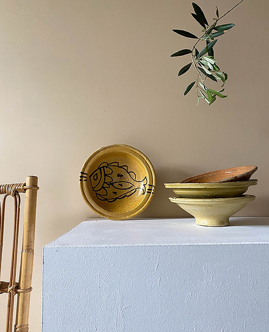 ancien bol poterie nabeul 1970   lovmint
