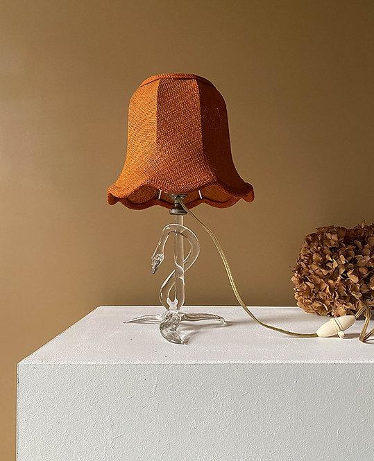 lampe chevet pied cristal vintage