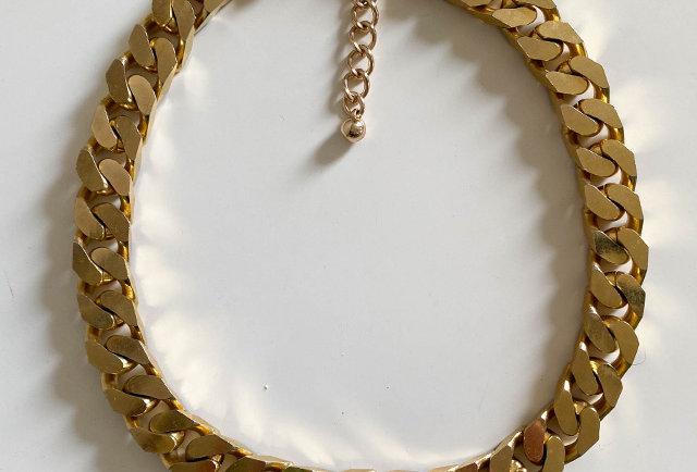 collier chaine dore vintage 90 | Hier Store