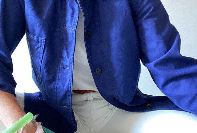 veste bleu travail vintage st James | Hier Store