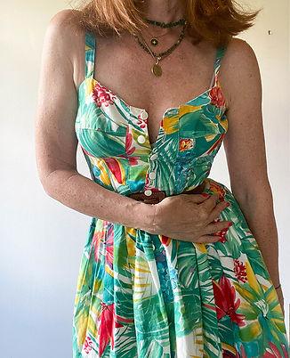 robe bustier fleurs vintage hier store.jpg