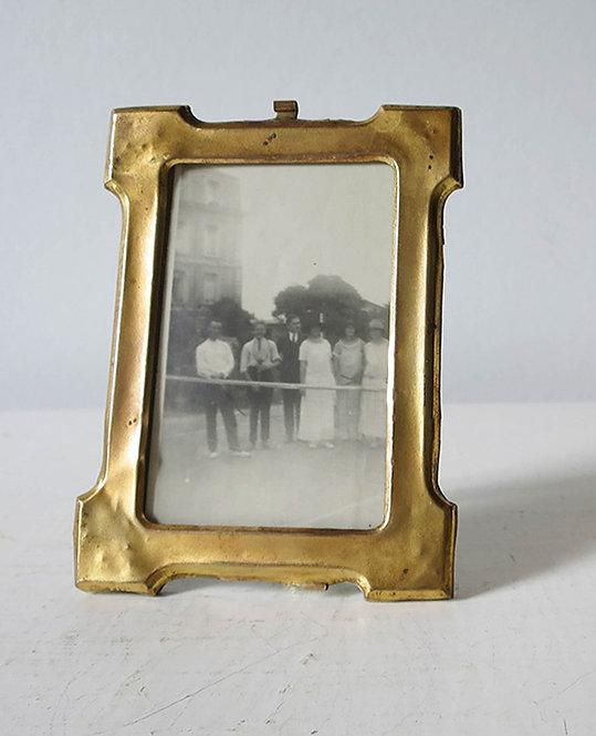ancien petit cadre photo laiton