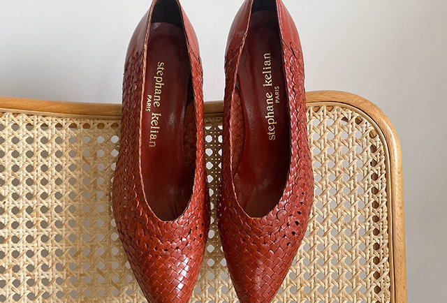 escarpins tressées cuir Stephane Kélian | Hier Store