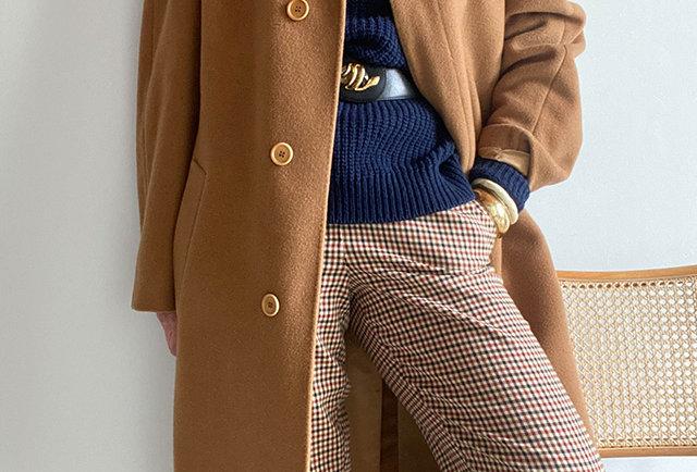 manteau cachemire vintage camel | Hier Store