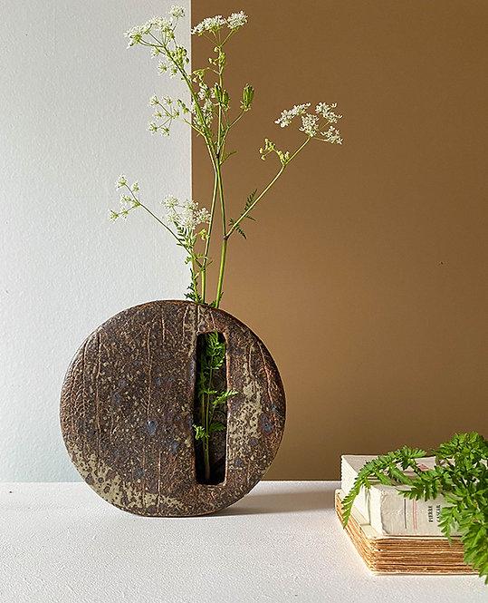 porte fleurs mural gres email cendre | lovmint