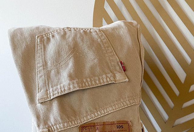 Jeans 501 levis beige vintage | Taille 28-30