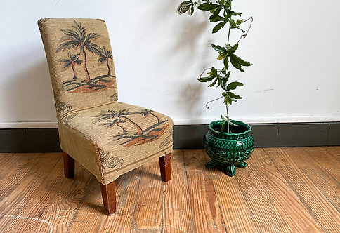 chaise enfant tapisserie vintage