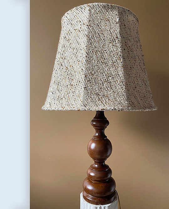 grande lampe chevet bois tourne vintage