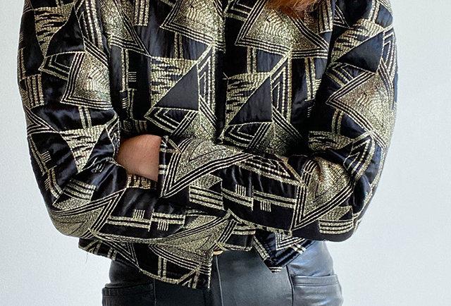 veste matelassée vintage 80 | Hier Store