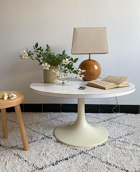 table basse pied tulipe plastique | vintage lovmint