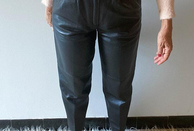 pantalon en cuir eighties