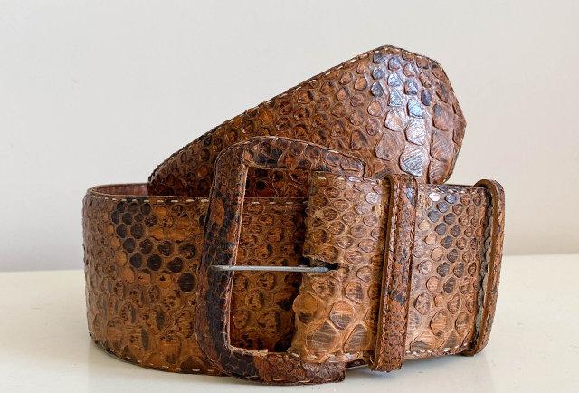 ceinture large vintage python | made in France