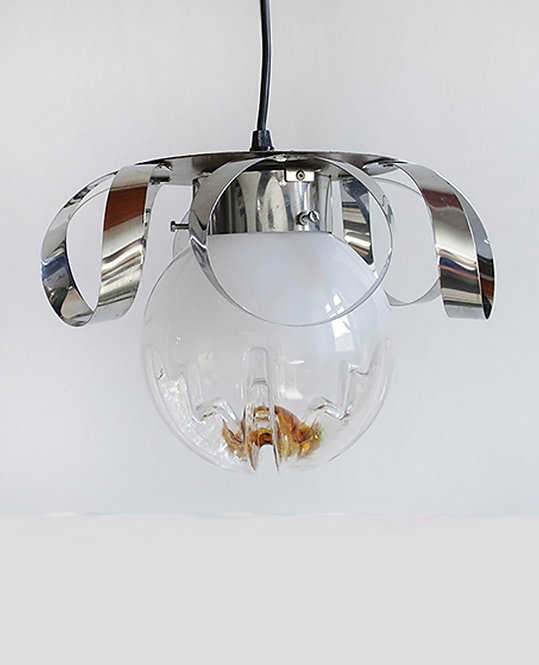 suspension vintage 70 globe Murano Mazzega