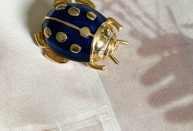 broche coccinelle vintage | Made in France