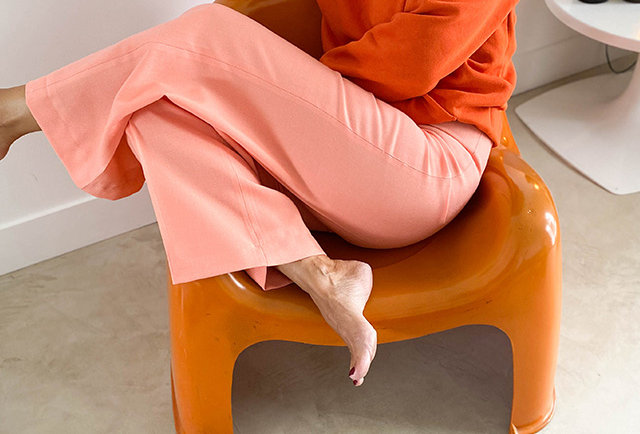 pantalon vintage orange 70 | Hier Store