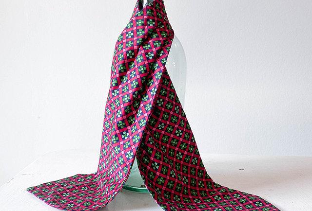 foulard cravate pour femmes vintage   Made in France