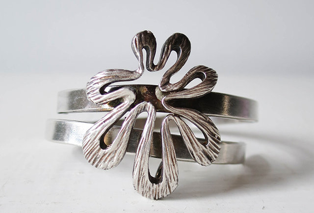 bracelet vintage argent années 70