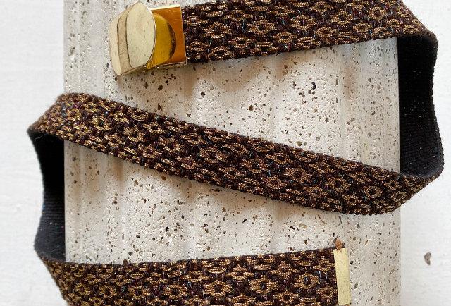 ceinture vintage toile lurex | Hier Store