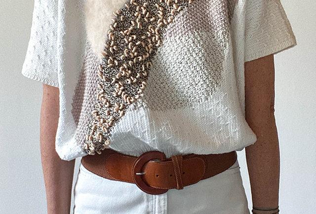pull été fait main soie coton | Hier Store