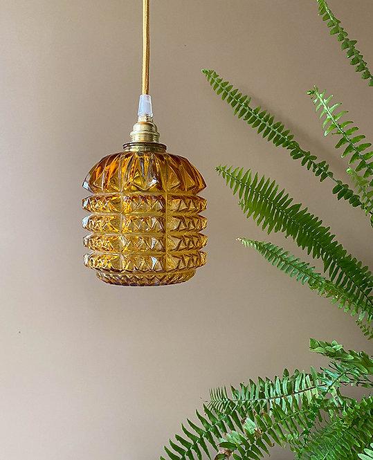 suspension globe verre diamant vintage | lovmint
