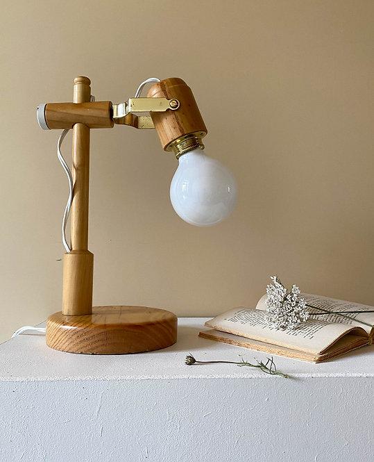 lampe bureau bois style brutaliste vintage