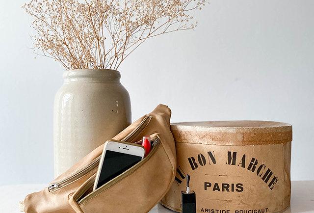 sac banane cuir vintage | Hier Store